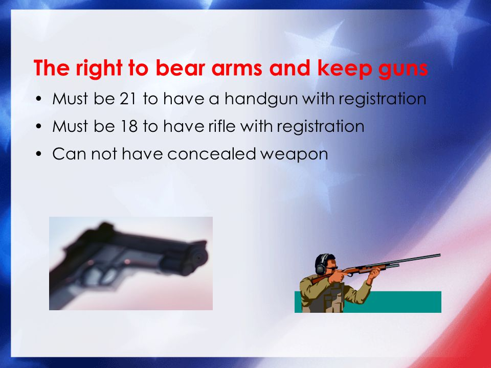 The right to bear arms and keep guns