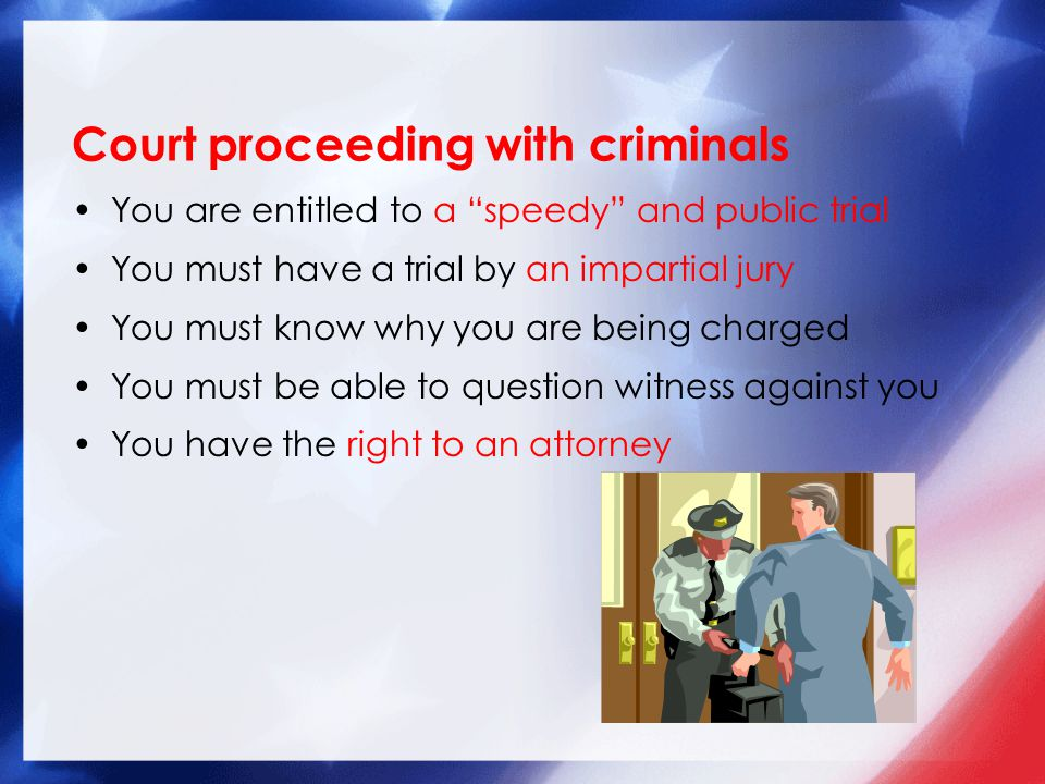 Court proceeding with criminals