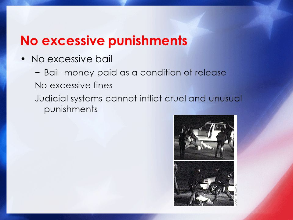 No excessive punishments