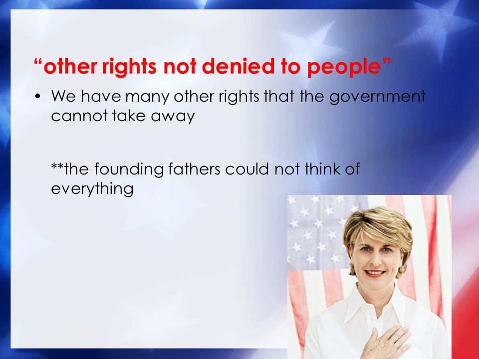 other rights not denied to people