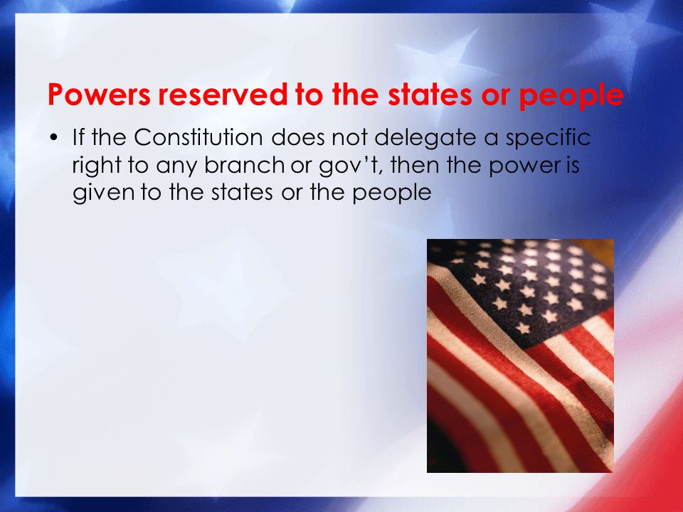 Powers reserved to the states or people