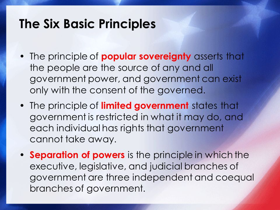 The Six Basic Principles