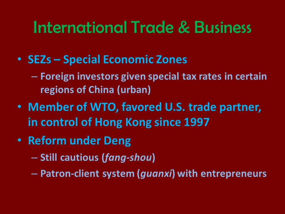 International Trade & Business