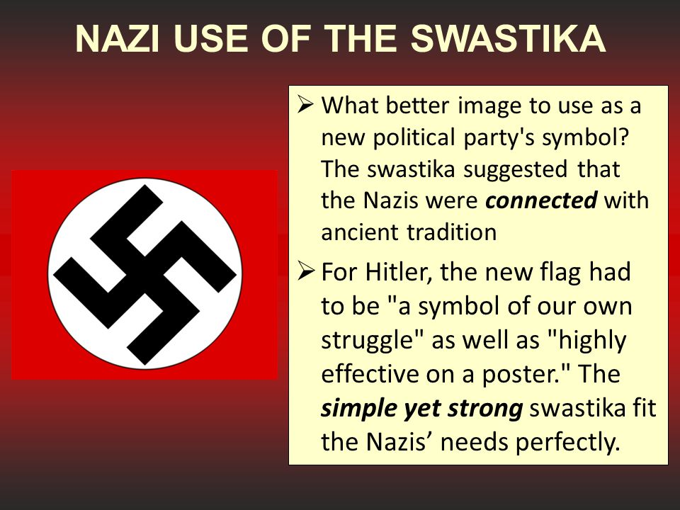 NAZI USE OF THE SWASTIKA
