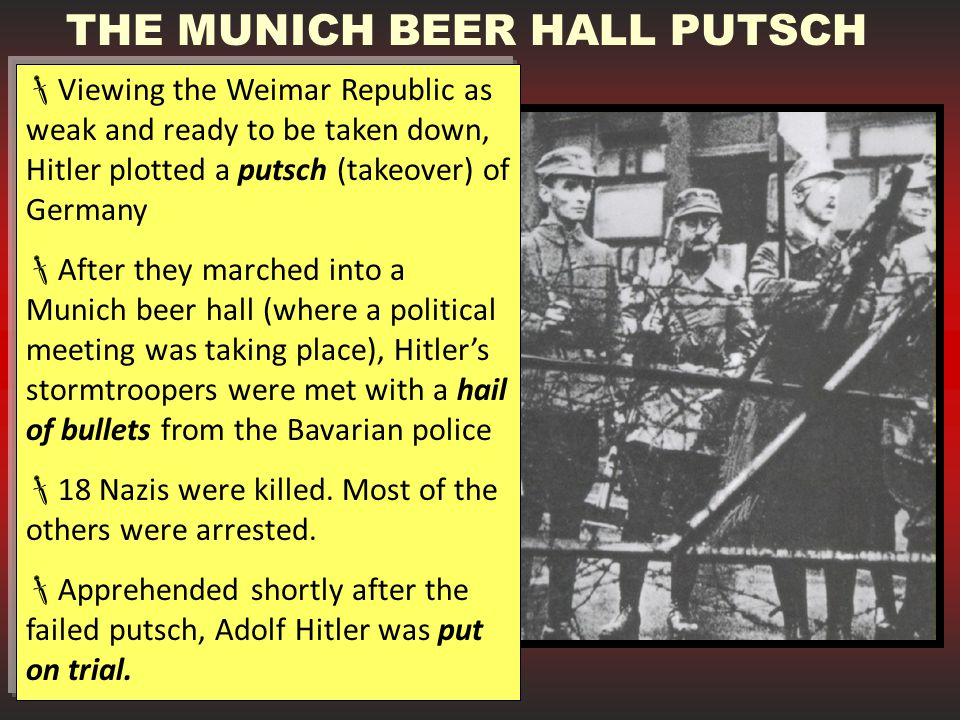 THE MUNICH BEER HALL PUTSCH