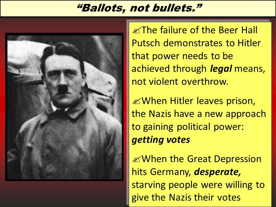 Ballots, not bullets.