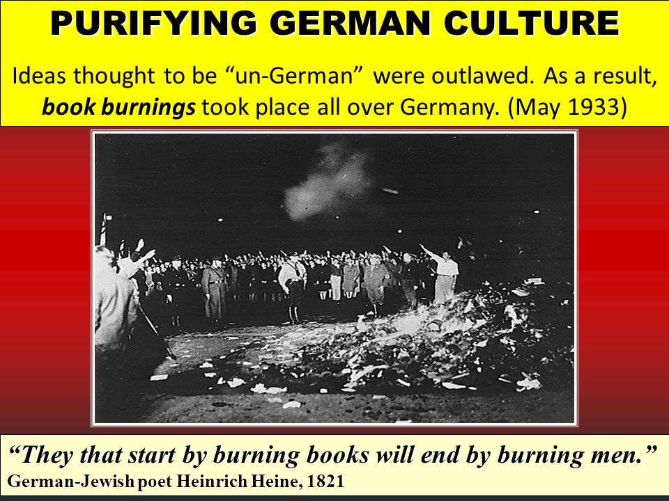 PURIFYING GERMAN CULTURE