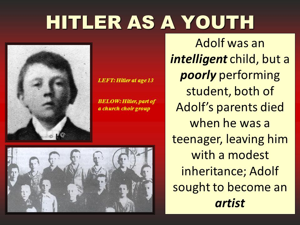 HITLER AS A YOUTH