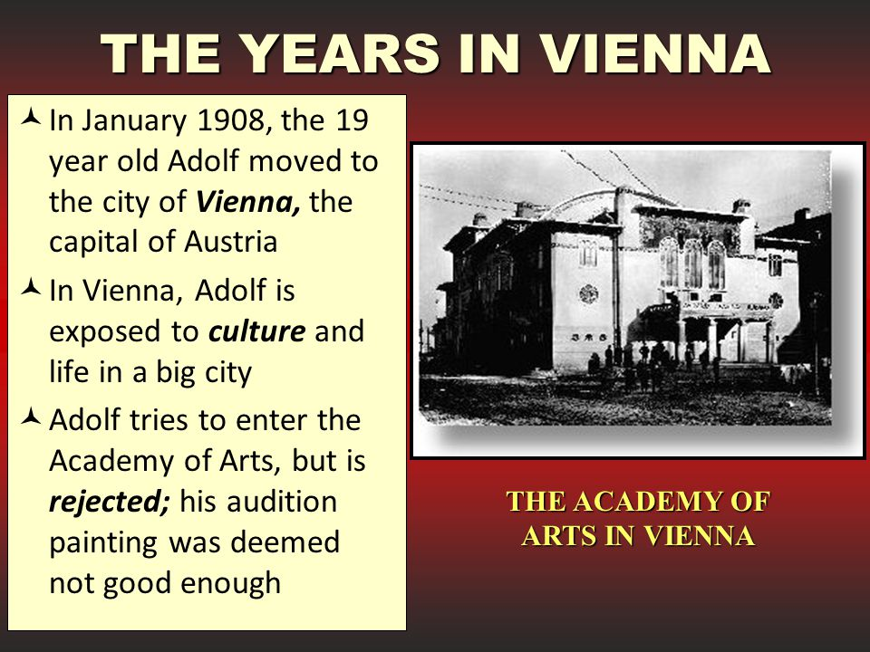 THE ACADEMY OF ARTS IN VIENNA