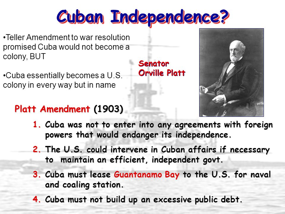 Cuban Independence Platt Amendment (1903)