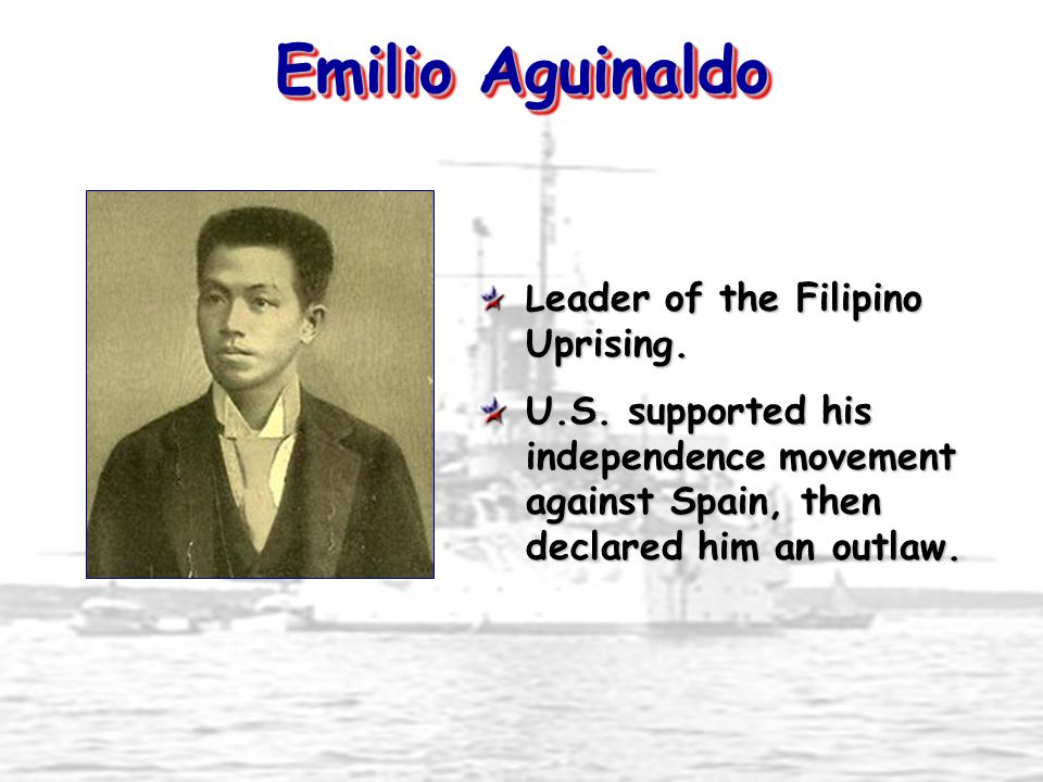 Emilio Aguinaldo Leader of the Filipino Uprising. U.S.