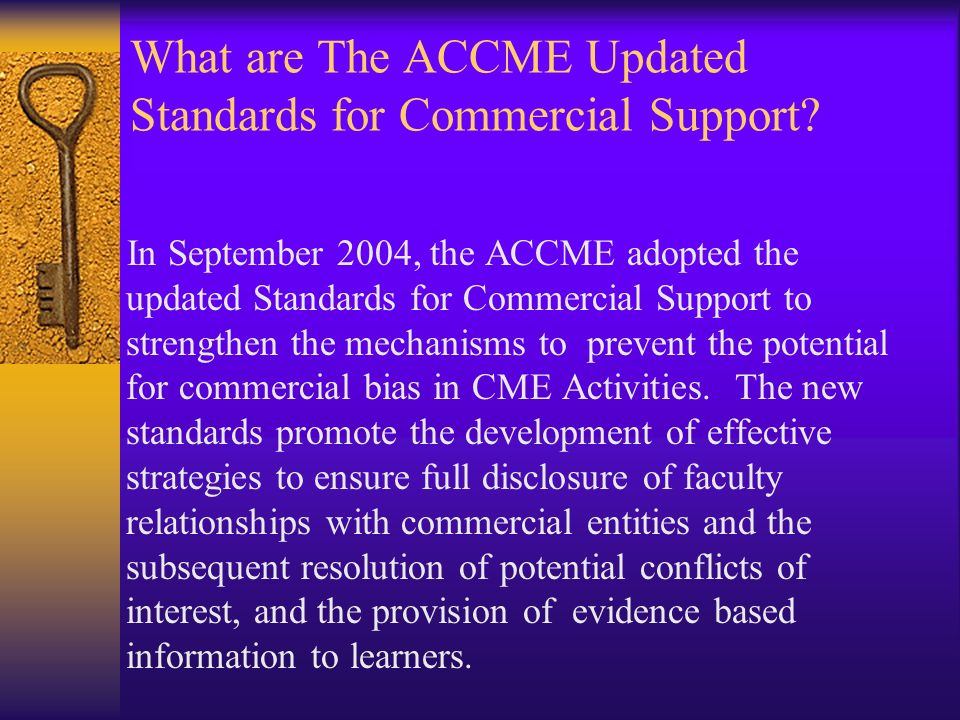 What are The ACCME Updated Standards for Commercial Support