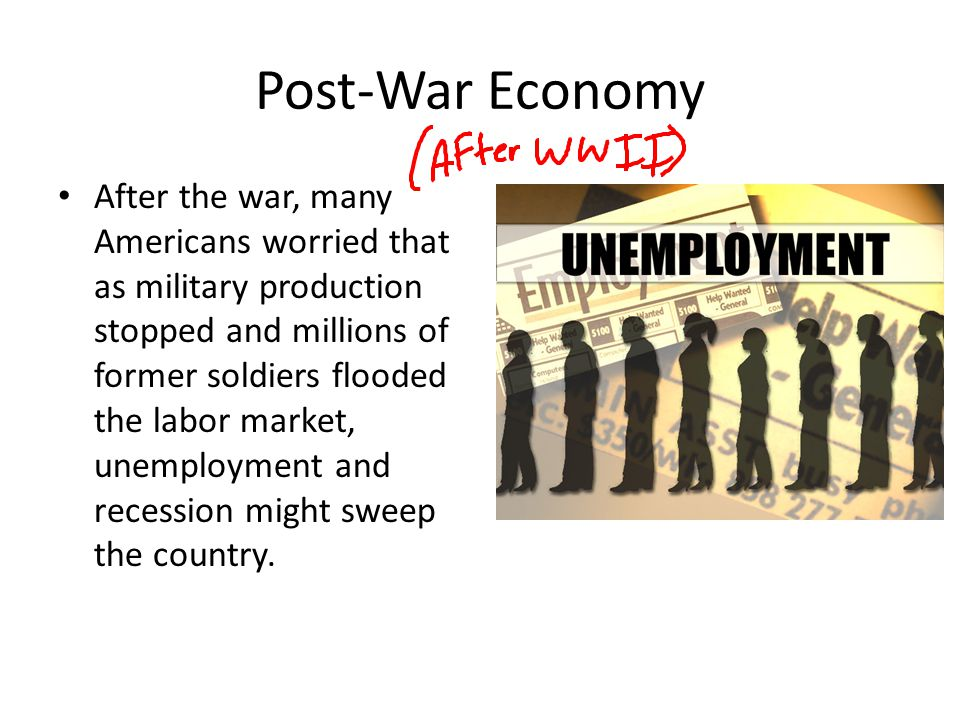 Post-War Economy
