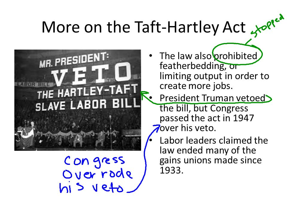 More on the Taft-Hartley Act