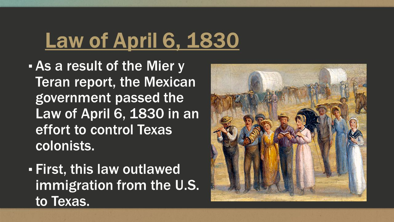 Law of April 6, 1830