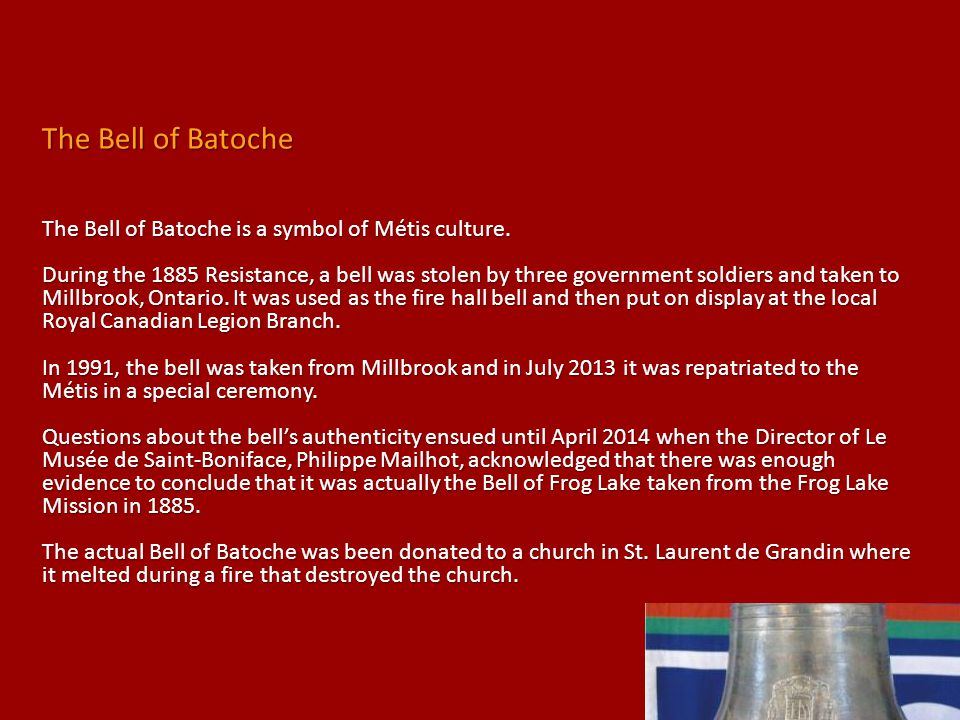 The Bell of Batoche