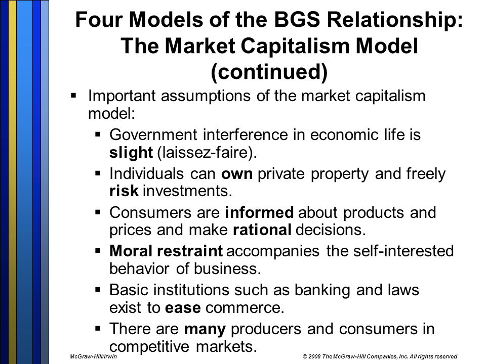 Four Models of the BGS Relationship: The Market Capitalism Model (continued)