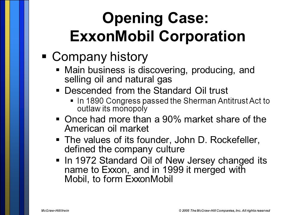 Opening Case: ExxonMobil Corporation