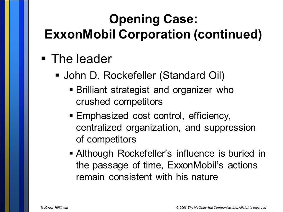 Opening Case: ExxonMobil Corporation (continued)
