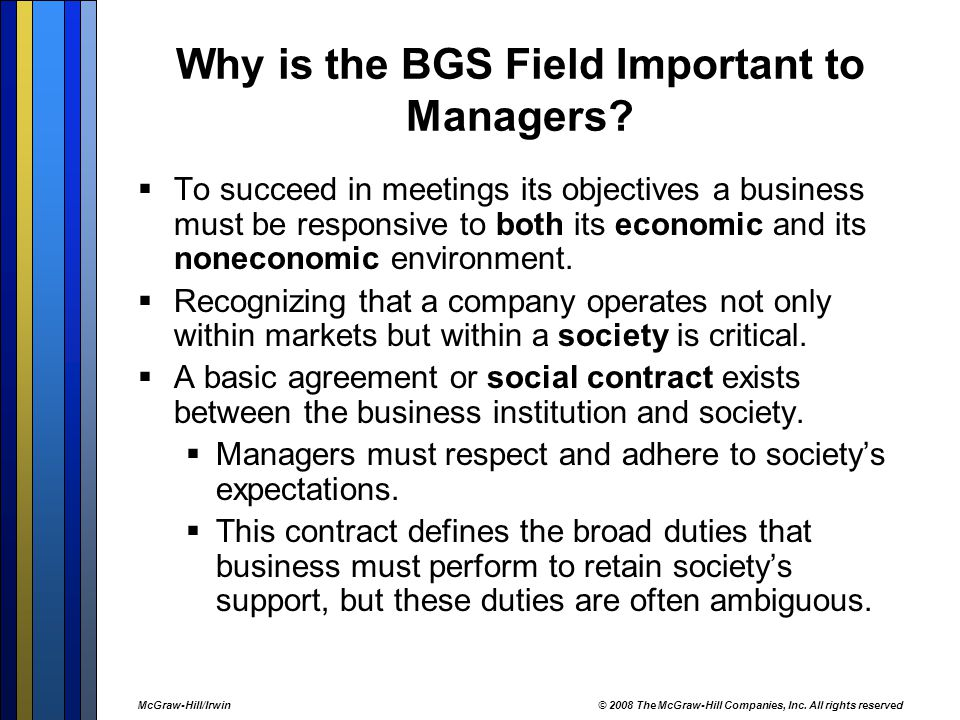 Why is the BGS Field Important to Managers
