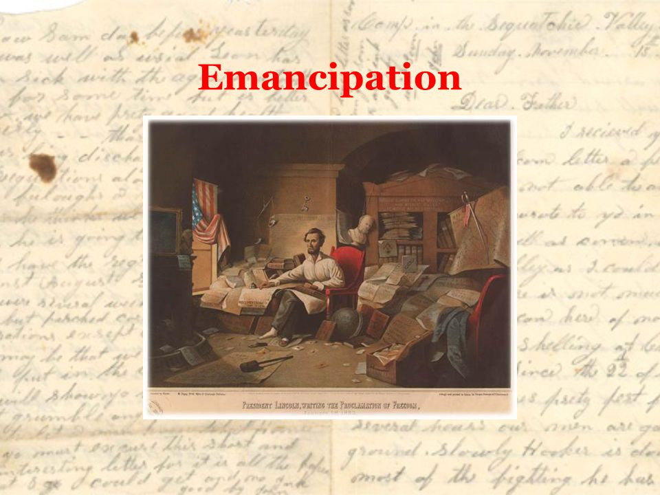 Emancipation However, Lincoln had some challenges to overcome before he wrote the Emancipation Proclamation.