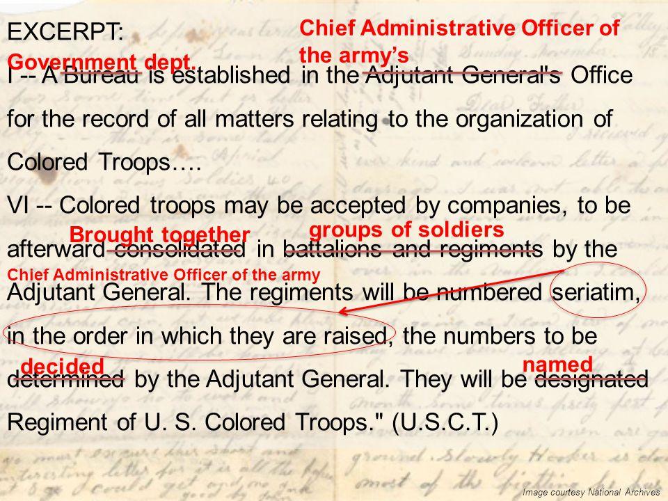I -- A Bureau is established in the Adjutant General s Office