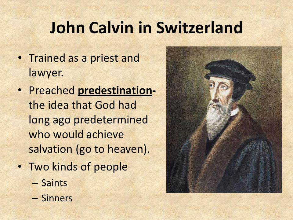 John Calvin in Switzerland