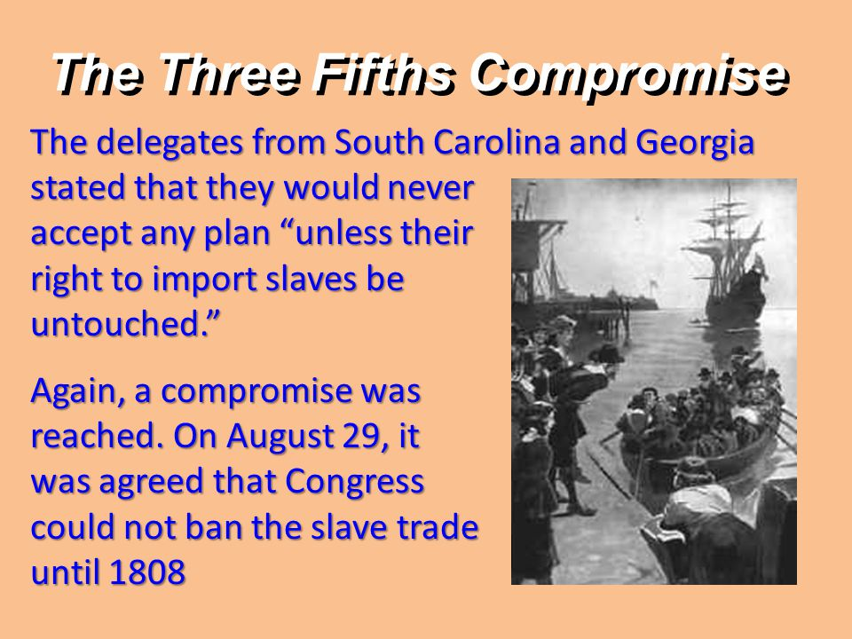 The Three Fifths Compromise