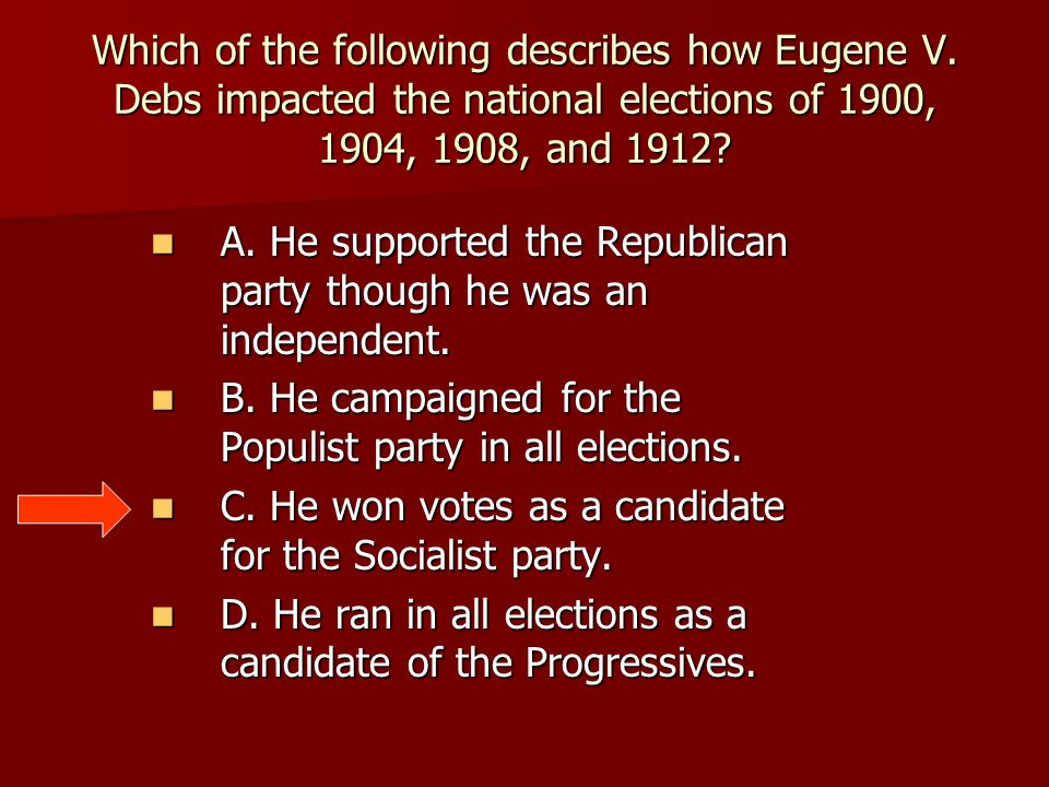 Which of the following describes how Eugene V