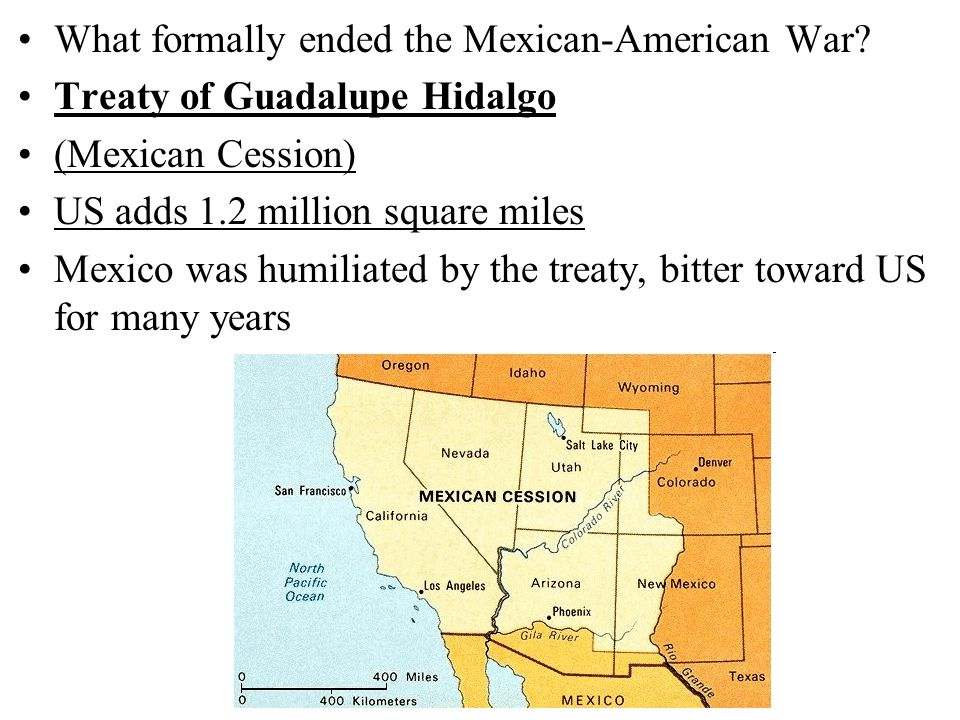 What formally ended the Mexican-American War