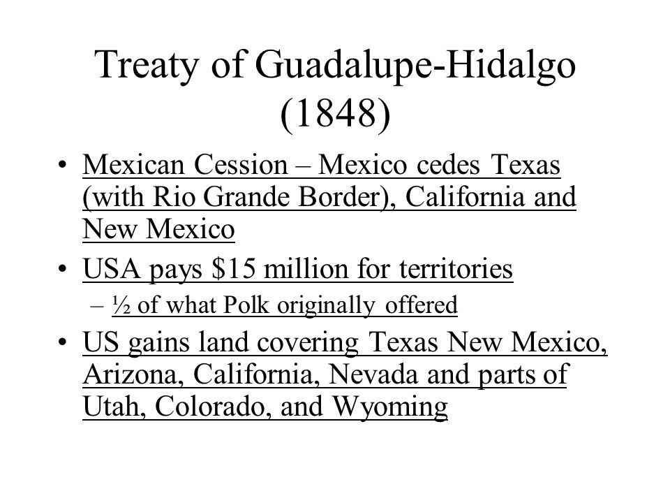 Treaty of Guadalupe-Hidalgo (1848)