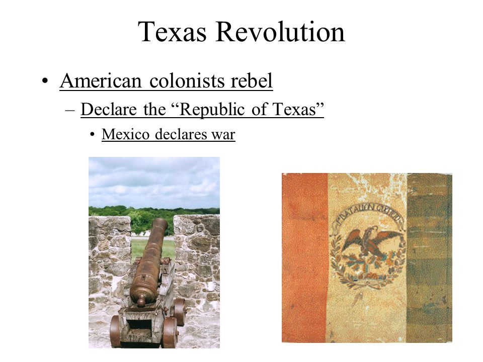 Texas Revolution American colonists rebel
