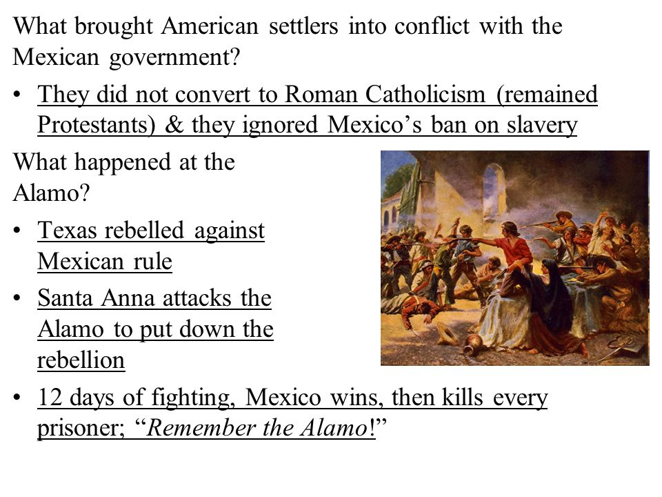 What brought American settlers into conflict with the Mexican government