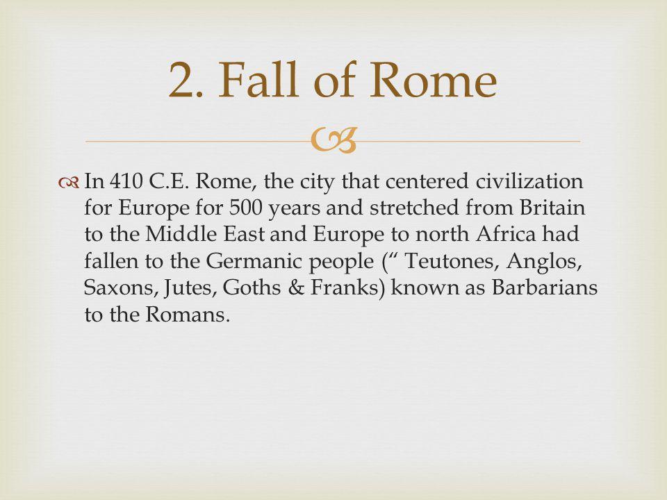 2. Fall of Rome