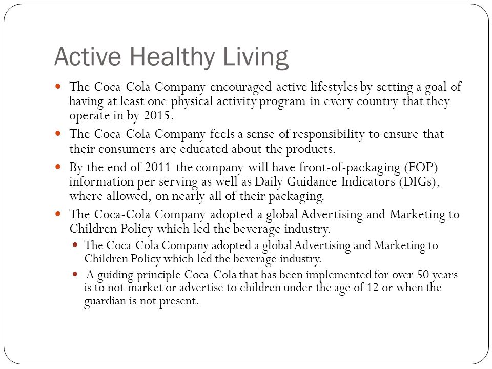 Active Healthy Living