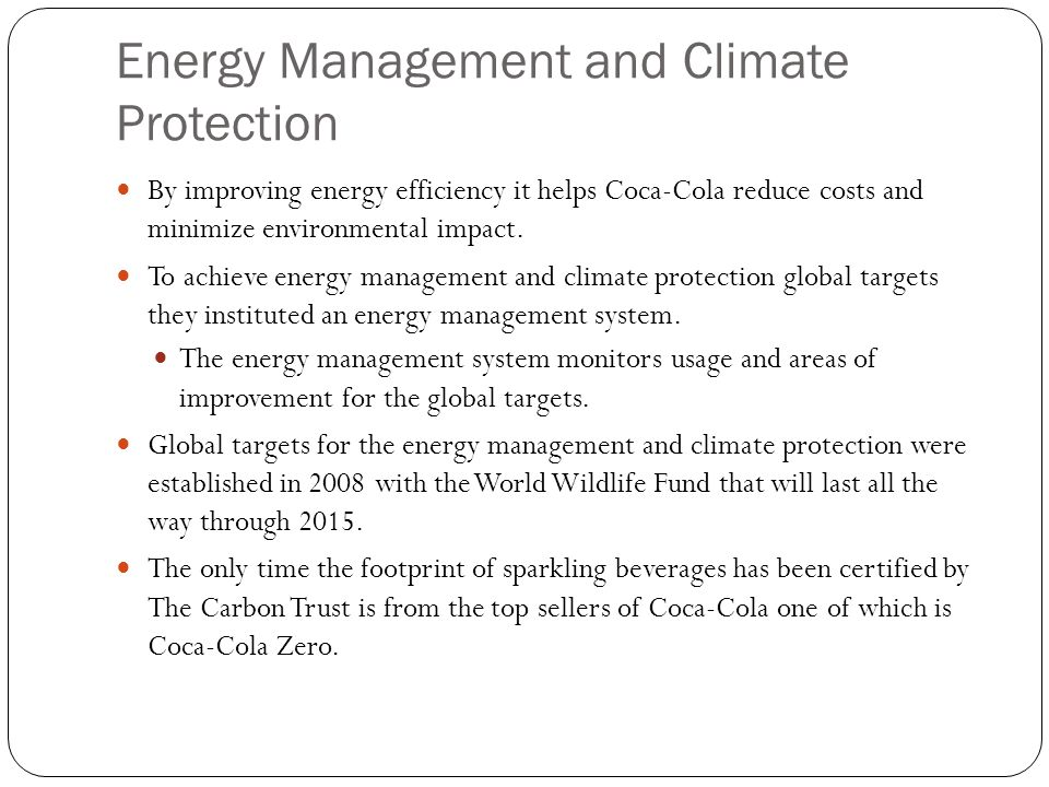 Energy Management and Climate Protection