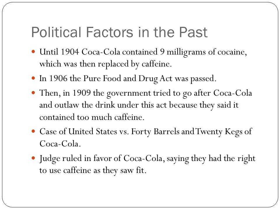 Political Factors in the Past