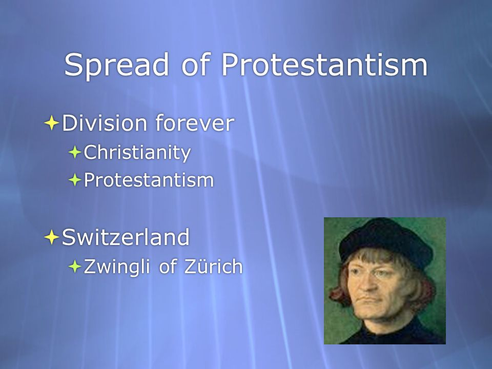 Spread of Protestantism
