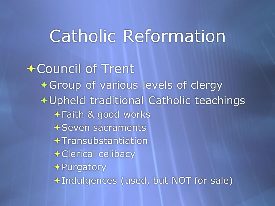 Catholic Reformation Council of Trent