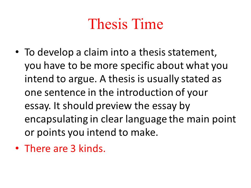 Thesis Time