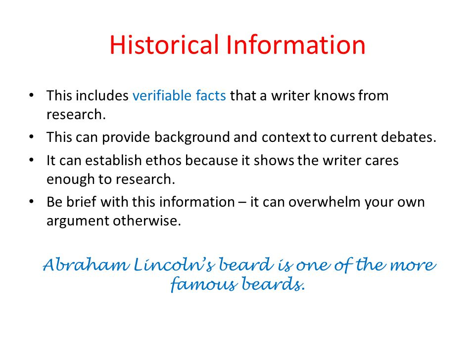 Historical Information