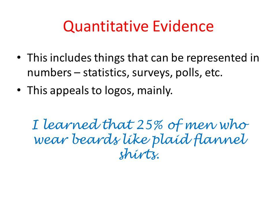 Quantitative Evidence