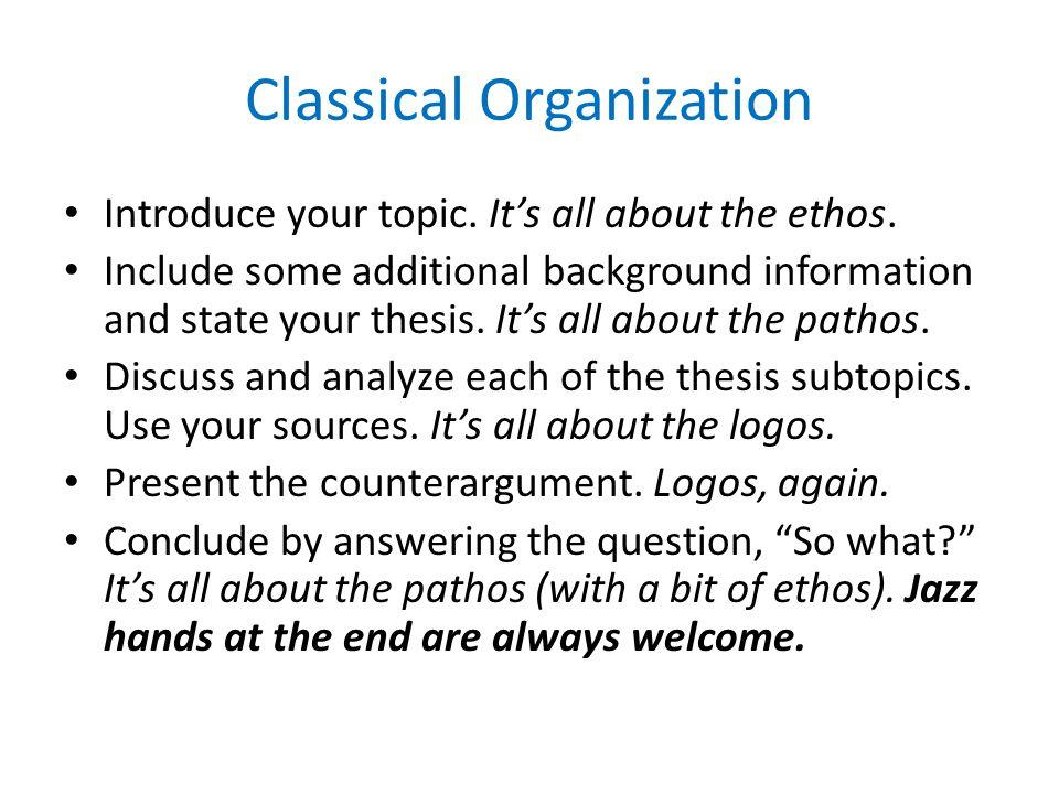 Classical Organization