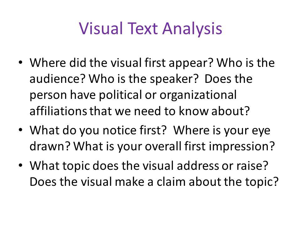 Visual Text Analysis