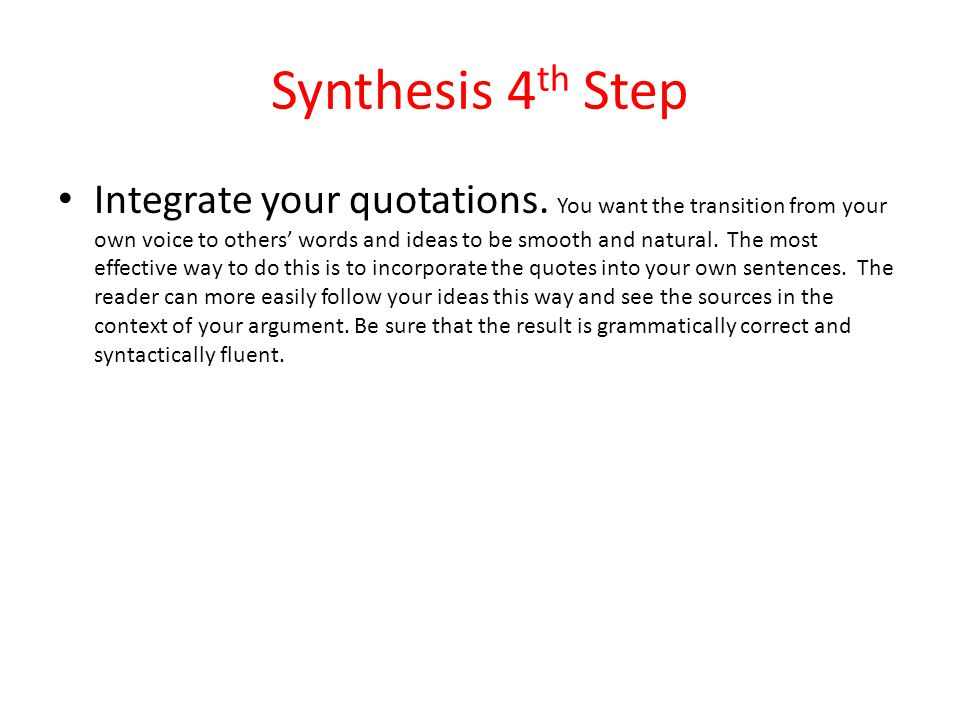 Synthesis 4th Step