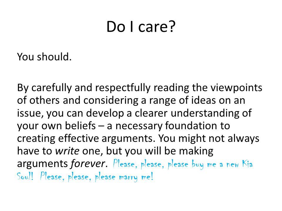 Do I care