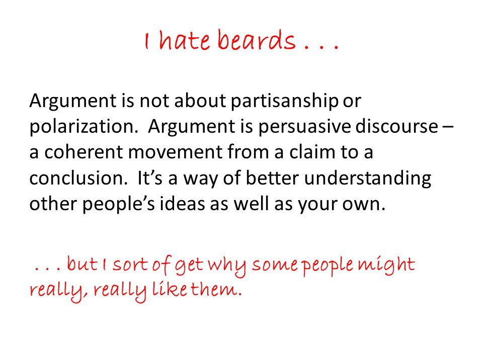 I hate beards . . .