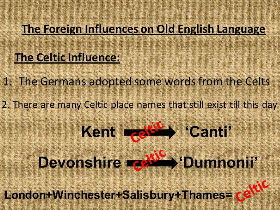 The Foreign Influences on Old English Language