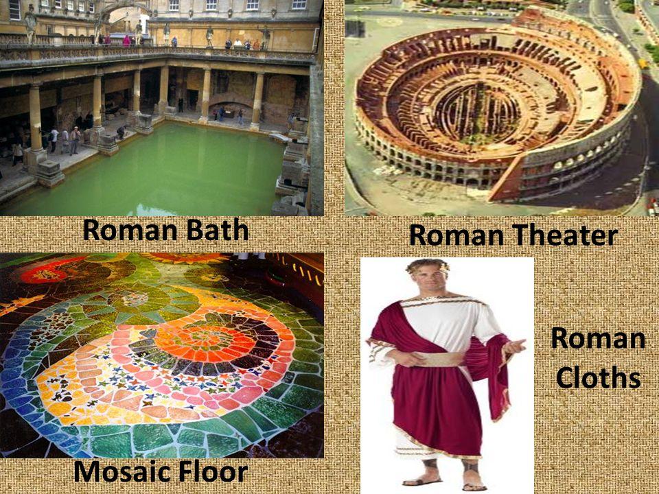 Roman Bath Roman Theater Roman Cloths Mosaic Floor