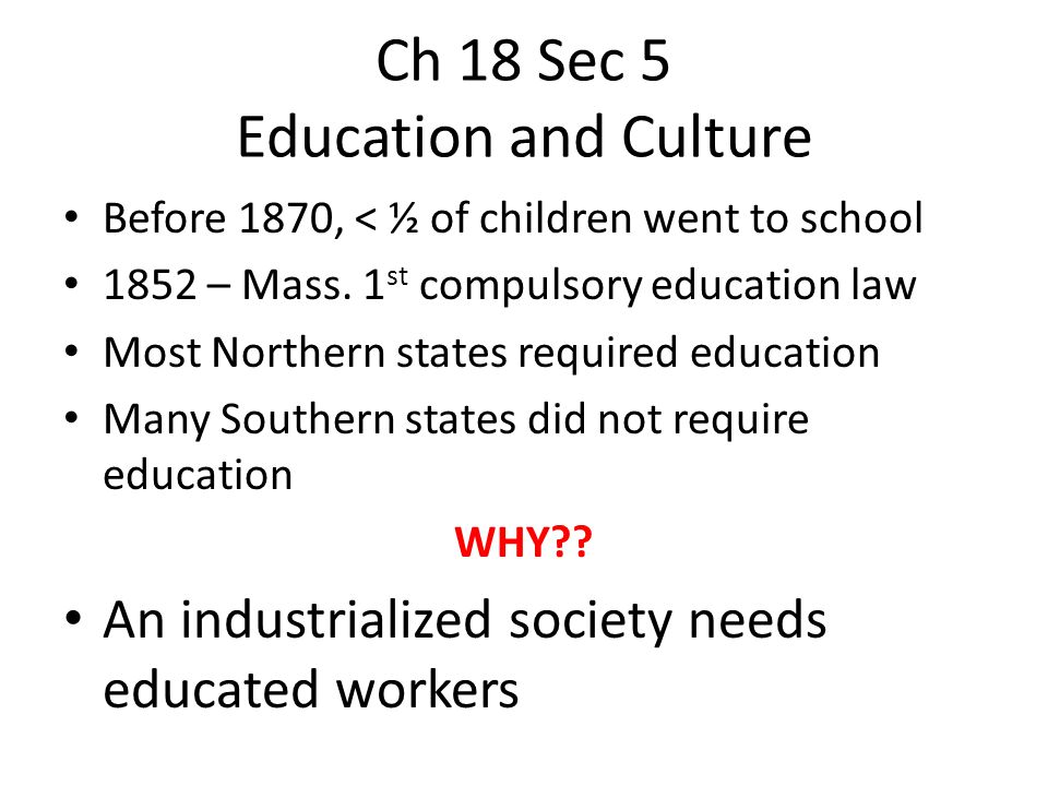 Ch 18 Sec 5 Education and Culture